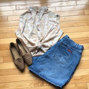 Vintage denim high-waisted shorts - run small